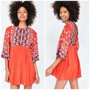Urban Outfitters Ecote Floral Cutout Boho Dress